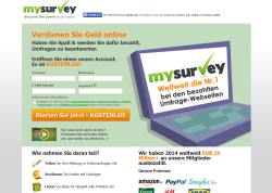MySurvey Screenhot Startseite 2015